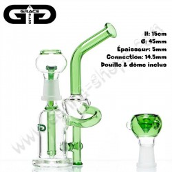 Bubbler Recycler Saxo Grace Glass vert