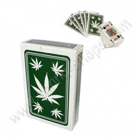 Jeu de cartes avec des feuilles de Cannabis