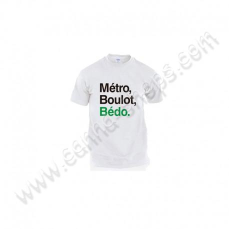 T-Shirt Métro, Boulot, Bédo Blanc