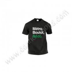 Black Tee Shirt Métro, Boulot, Bédo