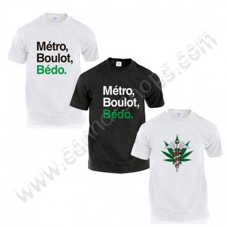 Pack 3 T-shirts spécial fumeurs de cannabis