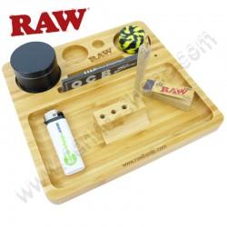Plateau en bois Raw pour rouler et ranger votre matos fumeurs