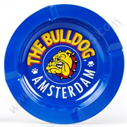 Cenicero The Bulldog Amsterdam de metal Azul