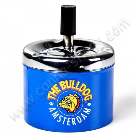 Cendrier poussoir The Bulldog Amsterdam métal bleu
