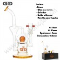 Bubbler Grace Glass Ball Recycler Ambre