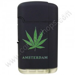Briquet turbo Cannabis Double flamme