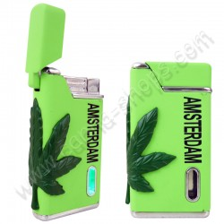 Green Cannabis Turbo Lighter
