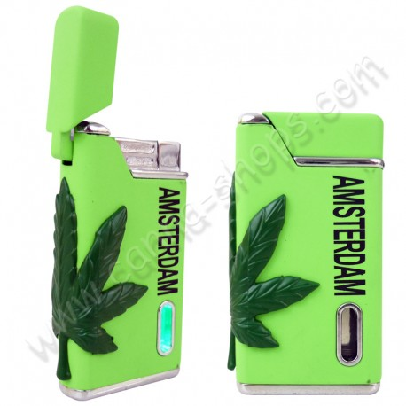 Briquet Turbo Cannabis Vert