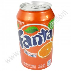 Lata de bebida Fanta Orange