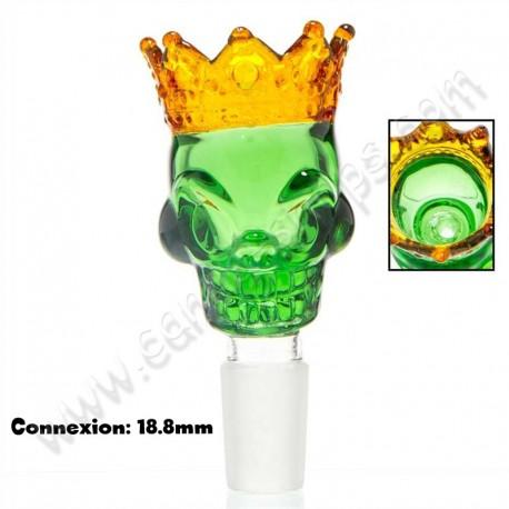 Douille Grace Glass King Skull