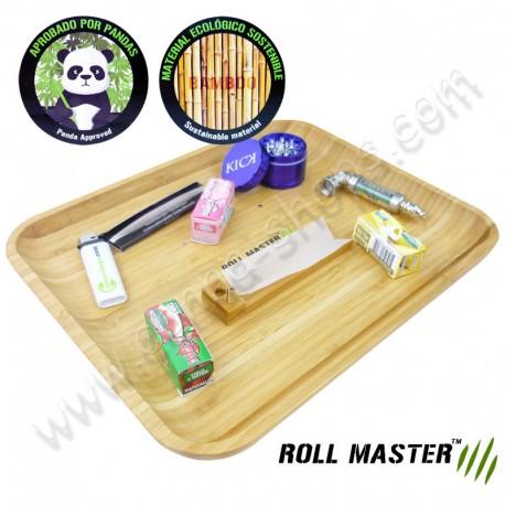 Plateau Roll Master en bambou format XL