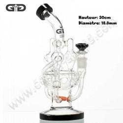 Magnifique Bubbler recycler Saxo Grace Glass Edition Limitée