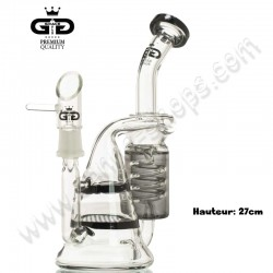 Bubbler Grace Glass recycler Honeycomb + Torando percolator