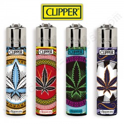 Lot de 4 Clipper Cannabis Oriental