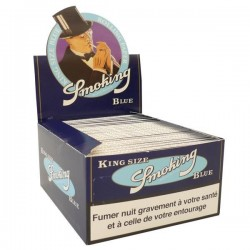 Feuilles king size slim Smoking blue
