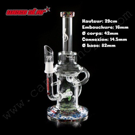 Bubbler de luxe ou bubbler collector Weedstar Sirius 2