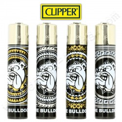 Clipper The Bulldog Amsterdam Gold & Silver, lot de 4 briquets Clipper