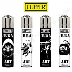 Lot de 4 briquets Clipper Urban Art