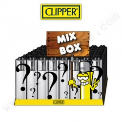 Clipper Mistery Box, boite de 48 briquets clipper assortis