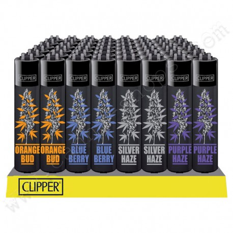 Lot de 4 briquets Clipper Cannabis variétés 2
