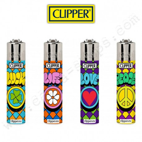 Briquets Clipper Peace & Love