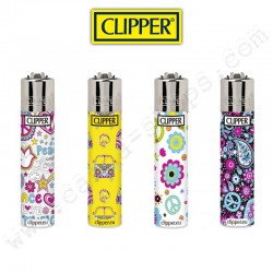 Clipper Hippie Micro, lot de 4 briquets Clipper rechargeables