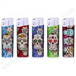 Briquets électroniques Mexican Skulls