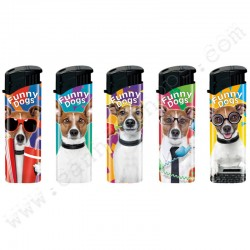 Briquets électroniques Funny Dogs