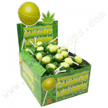 Sucettes Cannabis Bubble Gum x Lemon Haze
