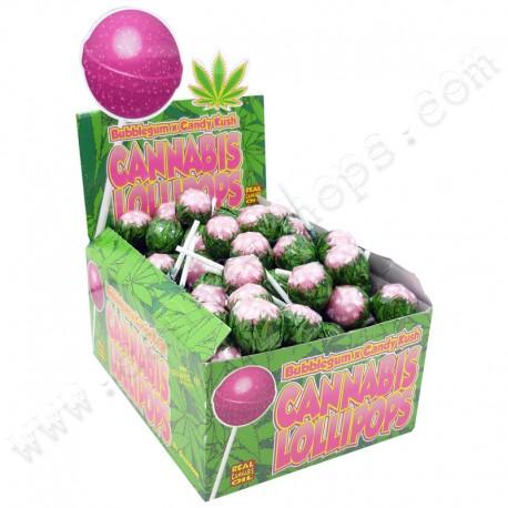 Sucettes Cannabis Bubble Gum x Candy Kush