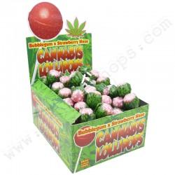 Sucettes Cannabis Bubble Gum x Strawberry Haze