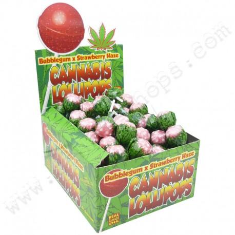 Sucettes Cannabis Bubble Gum x Strawberry