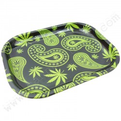 Paisley Metal Rolling Tray