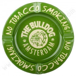 Green Metal Ashtray The Bulldog Amsterdam