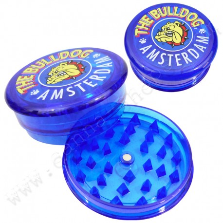 The bulldog amsterdam Blue 3 parts acrylic grinder