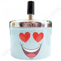 Cendrier Smiley Love cendrier poussoir métal