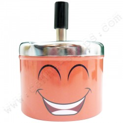 Cendrier poussoir Happy Smiley