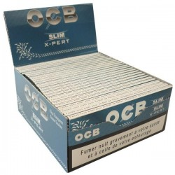 Box of OCB x-pert slim rolling paper air ultra-slim