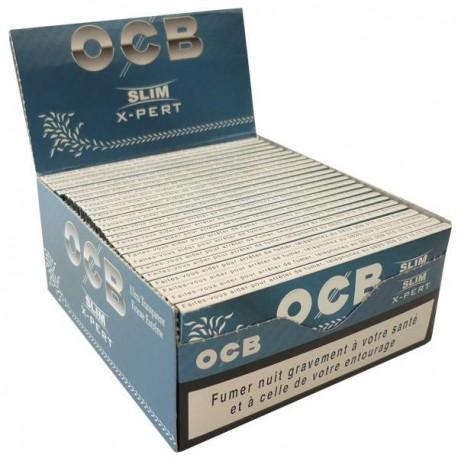 Box of OCB x-pert slim rolling paper air ultra-slim