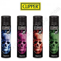 Clipper Neon Skull Jet flame