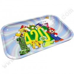 Metal rolling tray 420 World XL