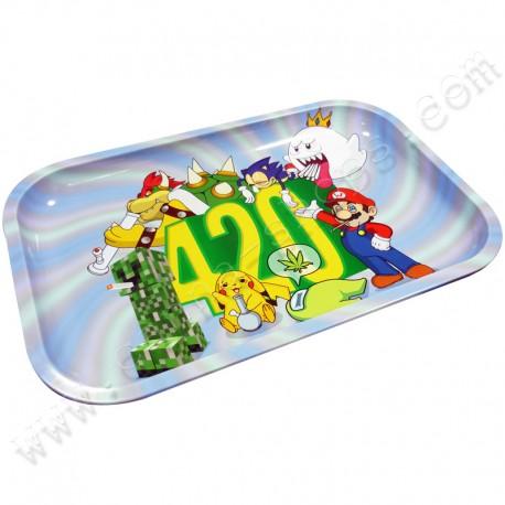 Metal rolling tray 420 World XL