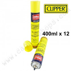 Pack de 12 recharges de gaz CLipper 400ml