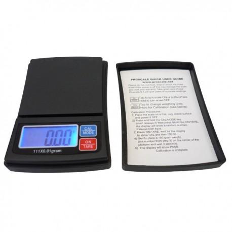 Digitale weegschaal zak nauwkeurig tot op de honderdste van een gram