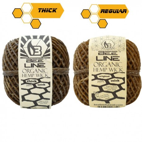 Spule Hemp wick, 2er-pack Original + Thick (dick)
